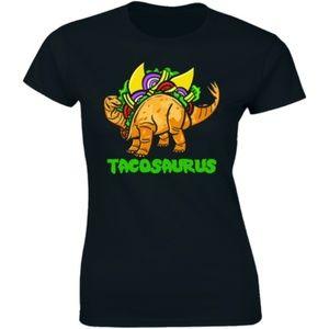 Taco Dinosaur Tacosaurus Taco Stegosaurus T-Shirt